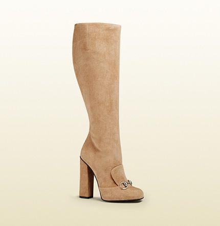 Suede Horsebit Knee Boot