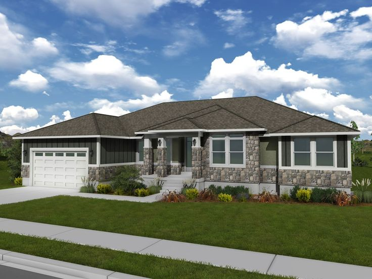 Olivia rambler style floor plan edge homes dream for Rambler style homes