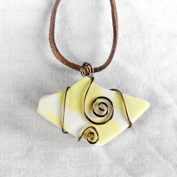 Genuine Irish sea pottery necklace. made in Ireland by terramor