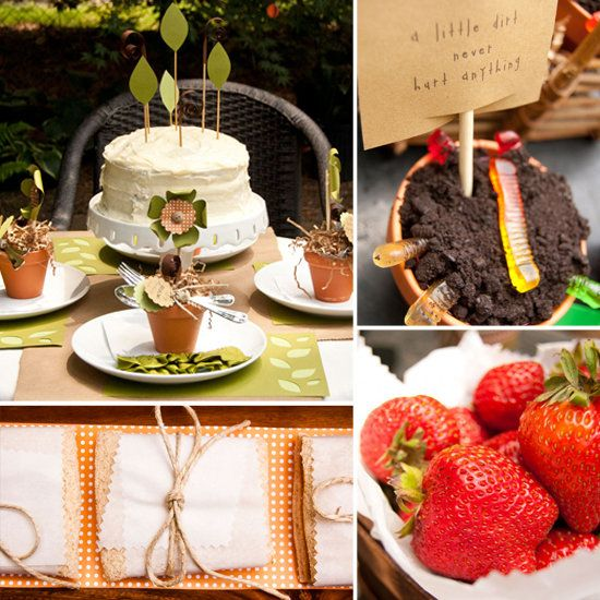 """Kids Gardening Party -- A Green-Minded """"Plant a Seed"""" Birthday Party"""