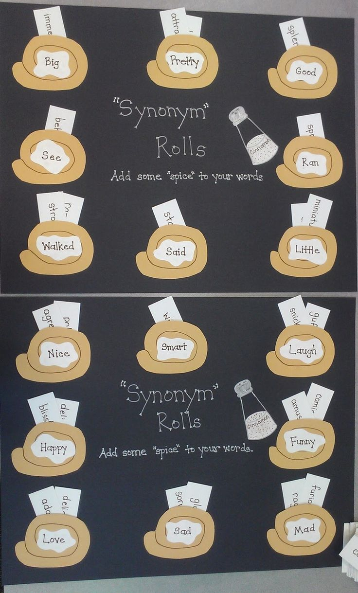 "Apples to Applique: ""Synonym"" Roll Pocket Chart                                                                                                                                                                                 More"