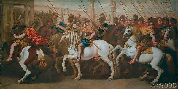 Aniello Falcone - Römische Soldaten im Zirkus