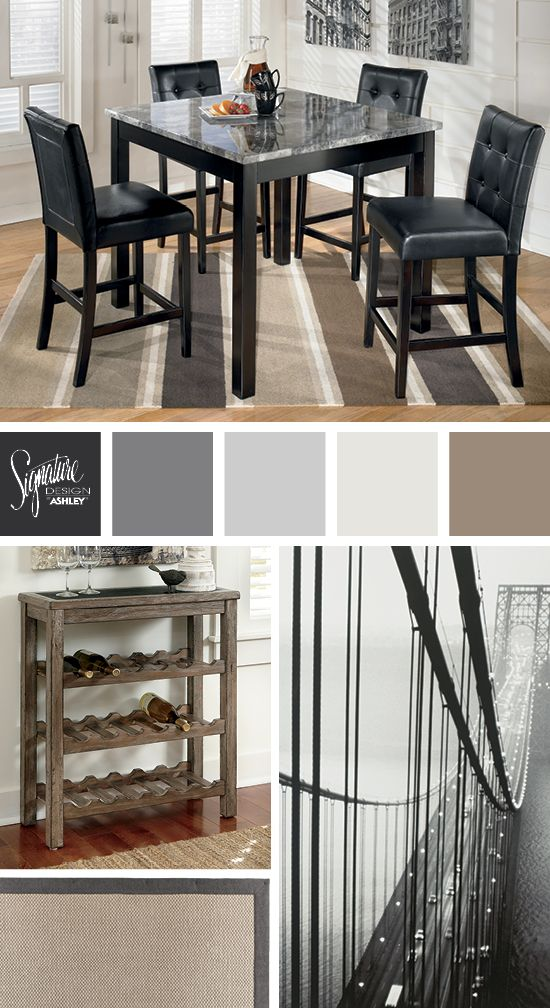 Black, grays and neutral tones for the dining room - Maysville Dining Room - Ashley Furniture Industries, Inc.