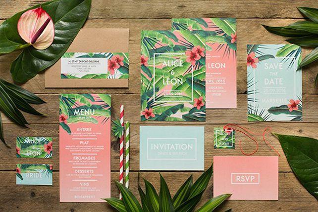 Тренды 2016 года: зеленые листья, пальмы и тропики, цветочная полиграфия - The-wedding.ru
