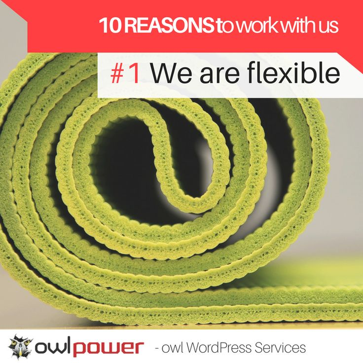 Flexibility is our middle name. We maintain simple sites and we orchestrate complex multi-domain corporate businesses.