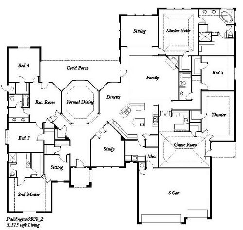 5 Bedroom Floor Plans The Paddington 5 Bedroom: 5 bedroom floor plans