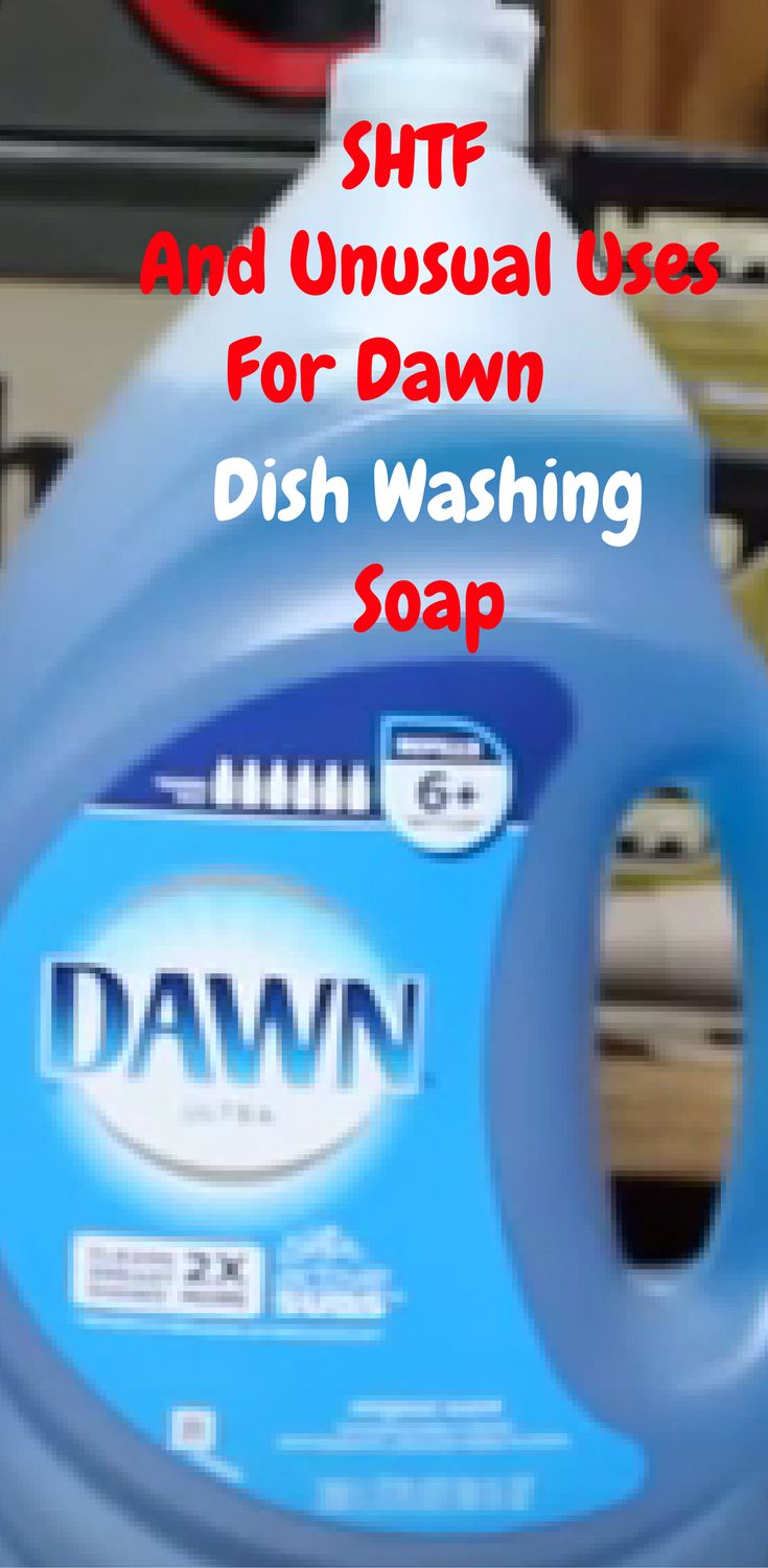 If you thought Dawn dish washing soap was for only doing dishes, you'd be wrong. As it turns out you can use it in a variety of ways such as weed  control, to bug killer, and for SHTF survival.  http://www.thegoodsurvivalist.com/a-few-unusual-shtf-and-everday-ideas-for-using-dawn-dishwashing-soap/
