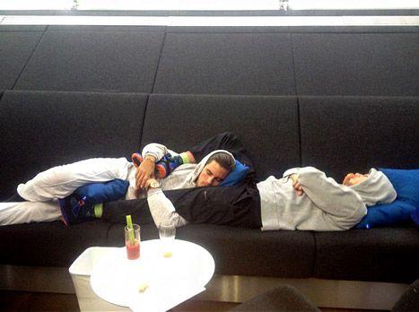 Scott Disick, Rob Kardashian Snuggle During an Airport Nap