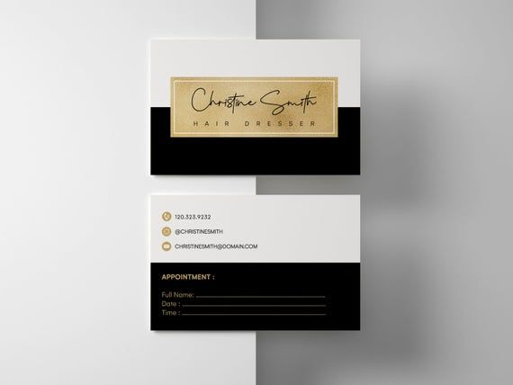 Business Cards Template Business Thank You Cards Thank You Etsy Printable Business Cards Minimalist Business Cards Business Card Design