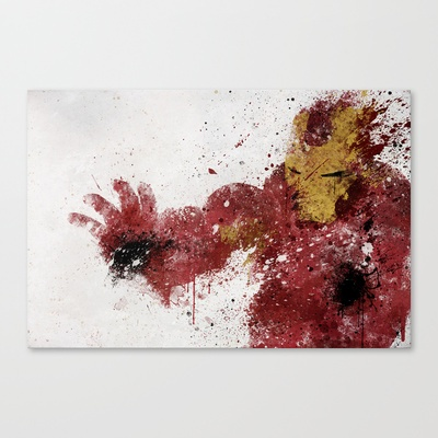 Iron Man Stretched Canvas by Melissa Smith - $85.00