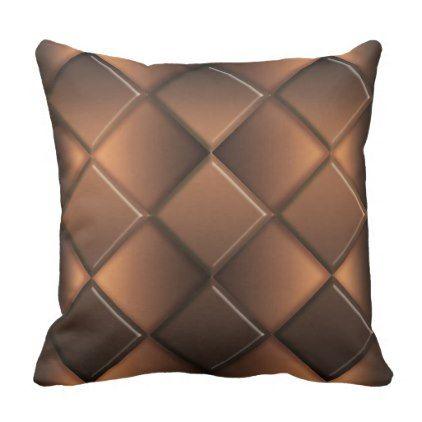 abstract geometric ciocolate pattern throw pillow - decor gifts diy home & living cyo giftidea