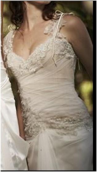 sheer fairy wedding dress