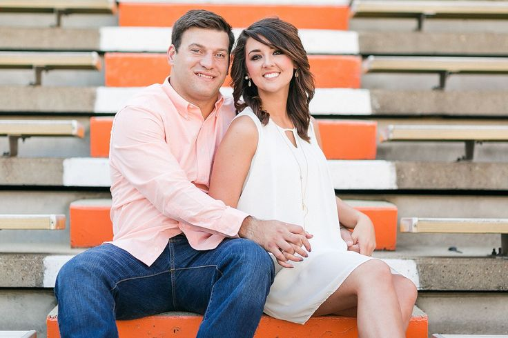 Engagement photography at Neyland Stadium for serious Vols fans!   Neyland Stadium Engagement Session by Matthew Davidson Photography | Bride Link