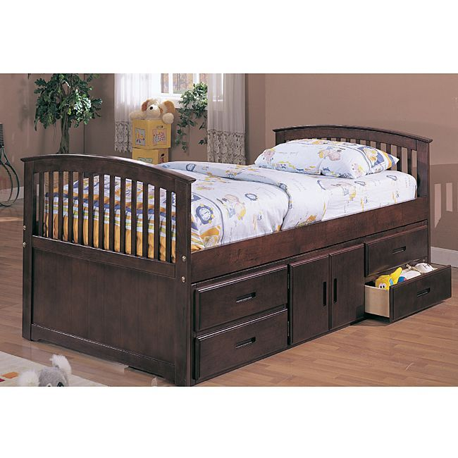 William 39 S Home Furnishing Cherry Twin Size Captain Bed Shopping The Best Deals