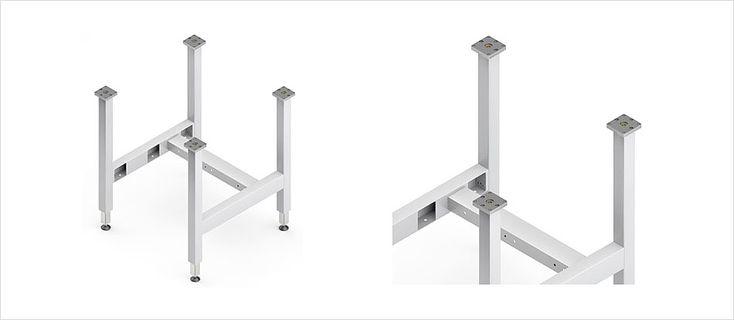 Höhenverstellbare Tischuntergestell TU für hohe Traglasten – Ergoswiss AG