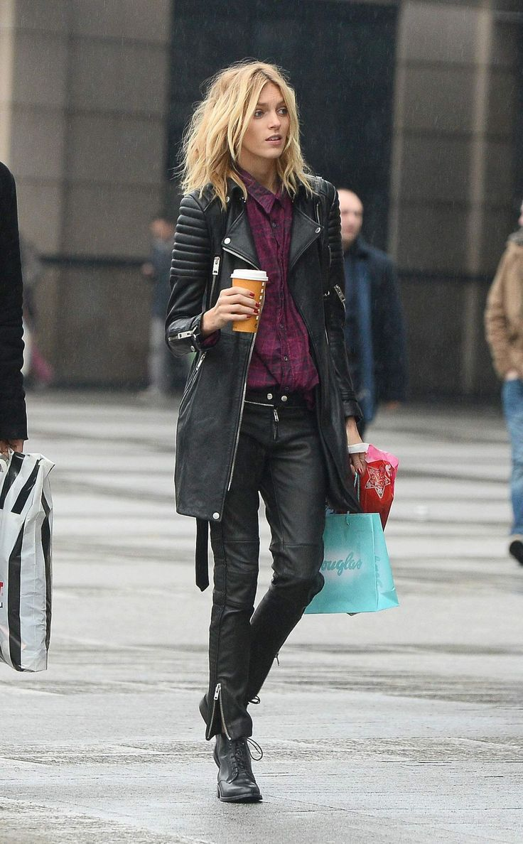 Leather jacket street style - Black Leather Love This Look But I Wish Leather Jacket Stylesblack