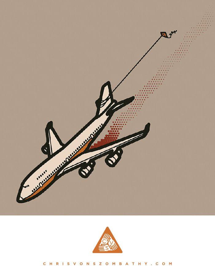 Bright Side, an illustration by artist/designer Chris von Szombathy.