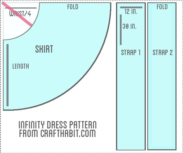 Infinity Dress Instructions : CraftHabit.com