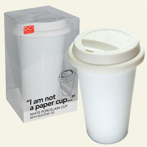 I Am Not A Paper Cup Stylish Reusable Thermal Porcelain Coffee