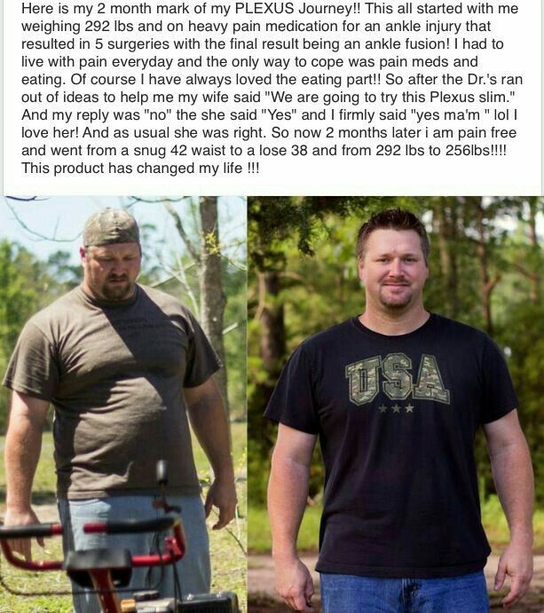 Pain free and weightloss with Plexus Slim