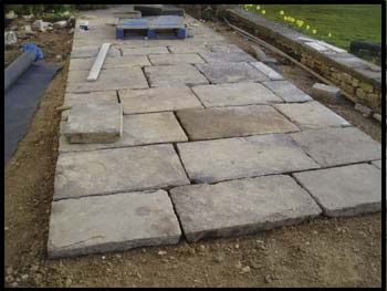 riven yorkstone-flags - alternative york stone paving