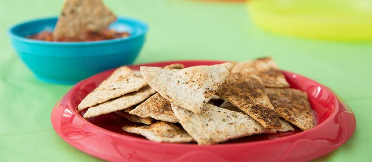 Chips de tortillas. Recette à faire avec votre enfant… et Chaminou!  #recette #enfants