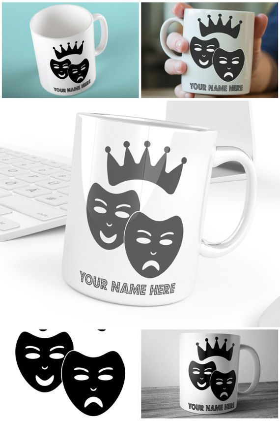 Personalised Drama Queen mug for the thespian in your life.  #personalisedmug #muglife #dramaqueen #prandski