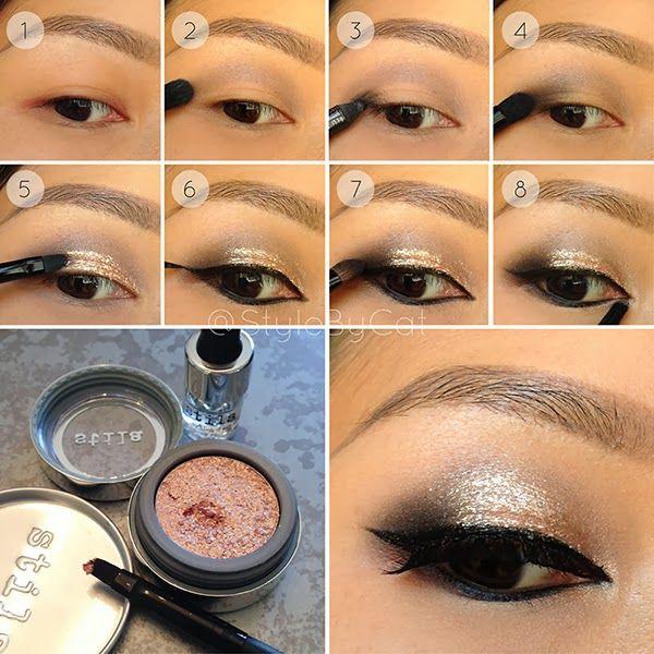 Lustrous, smokey eye tutorial with Stila Magnificent Metals Foil Finish eyeshadow.