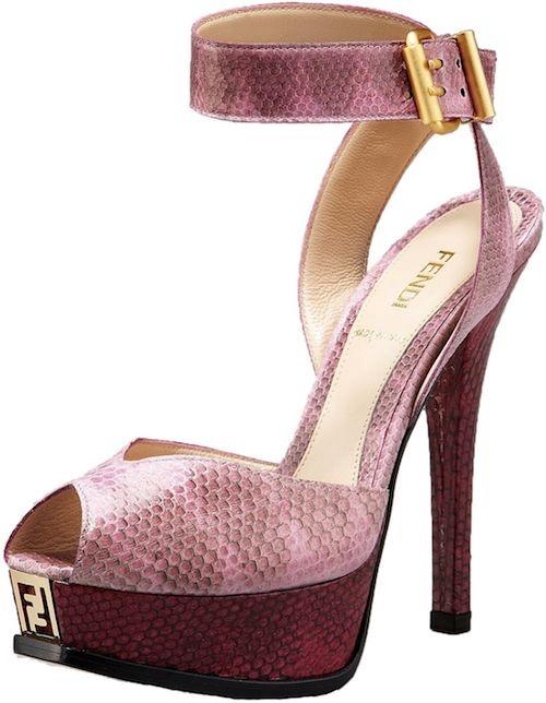 Fendi Snakeskin Platform Sandal