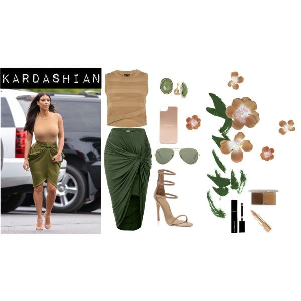 KKardashian by malirybka1989 on Polyvore featuring River Island, Jones New York, Ray-Ban, Kate Spade, Stila, Givenchy and Dolce&Gabbana