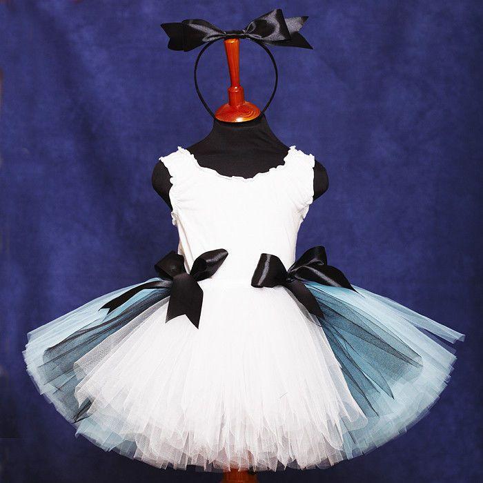 """Купить """"Алиса в стране чудес"""" пышная юбка-пачка и ободок с бантом - алиса в…"""