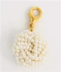 John Wind Jewelry Gold Tiny Pearl Knot Charm Enhancer by Maximal Art