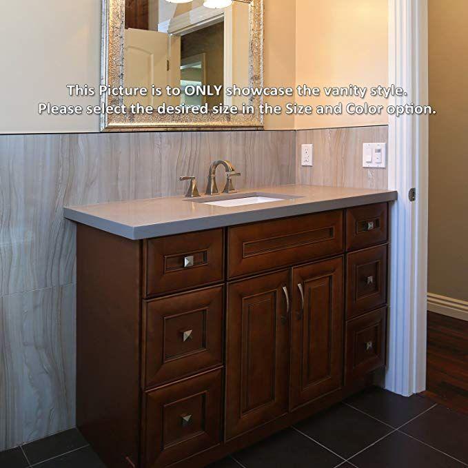 Chicory Coffee 42 Vanity Sink Base With 3 Drawers On Left Side Review Bathroom Sink Vanity Bathroom Vanity Bathroom Vanities For Sale
