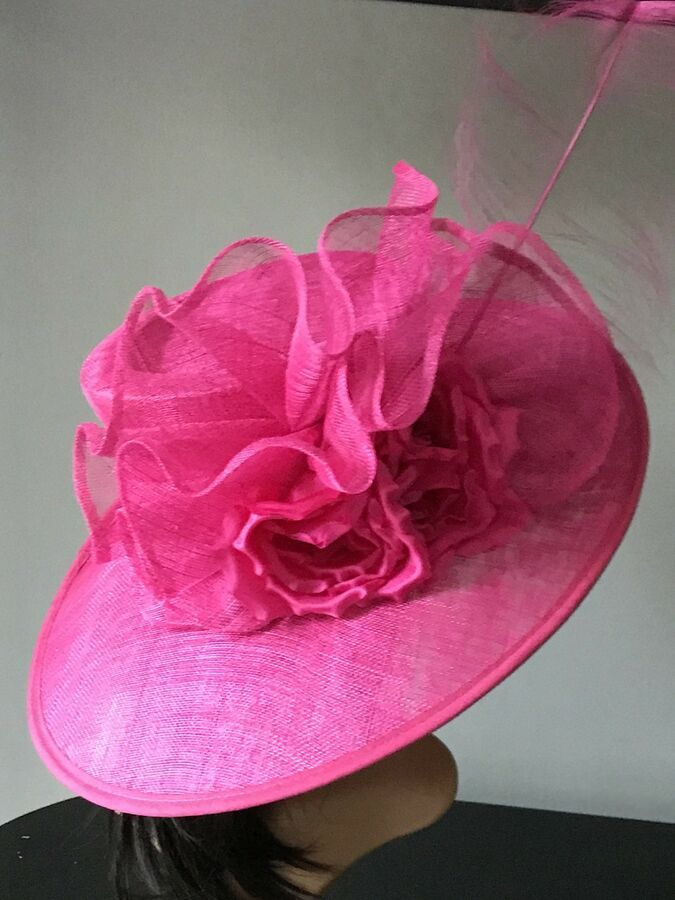1e89b7d3425 SNOXELL GWYTHER HOT PINK WEDDING ASCOT HAT MOTHER OF THE BRIDE OCCASION  PINK WEDDING