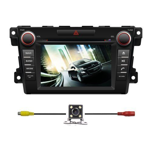 "BlueLotus® In-dash 7"" Touchscreen Car DVD GPS Navigation for Mazda Cx-7 2007 2008 2009 2010 2011 2012 w/ Tv Radio Bluetooth Steering Wheel Control RDS + Av + Rear View Camera + Free USA Map"