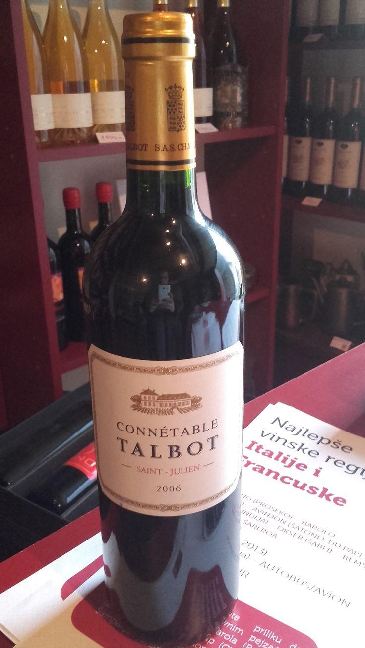 Connetable de Talbot  2006 Vrhunsko crveno vino. Klasično i elegantno, sa dobro osmišljenom strukturom i dugom svežom završnicom. Procenat alkohola: 13% Za sve ostale informacije u vezi vina pozovite 011/7113938 ili 063/238322 ili dođite u našu vinoteku.