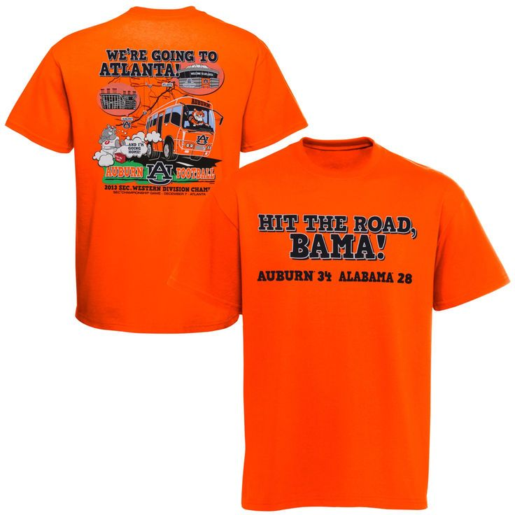 Auburn Tigers vs. Alabama Crimson Tide 2013 Rivalry Week Score T-Shirt - Orange - $12.34