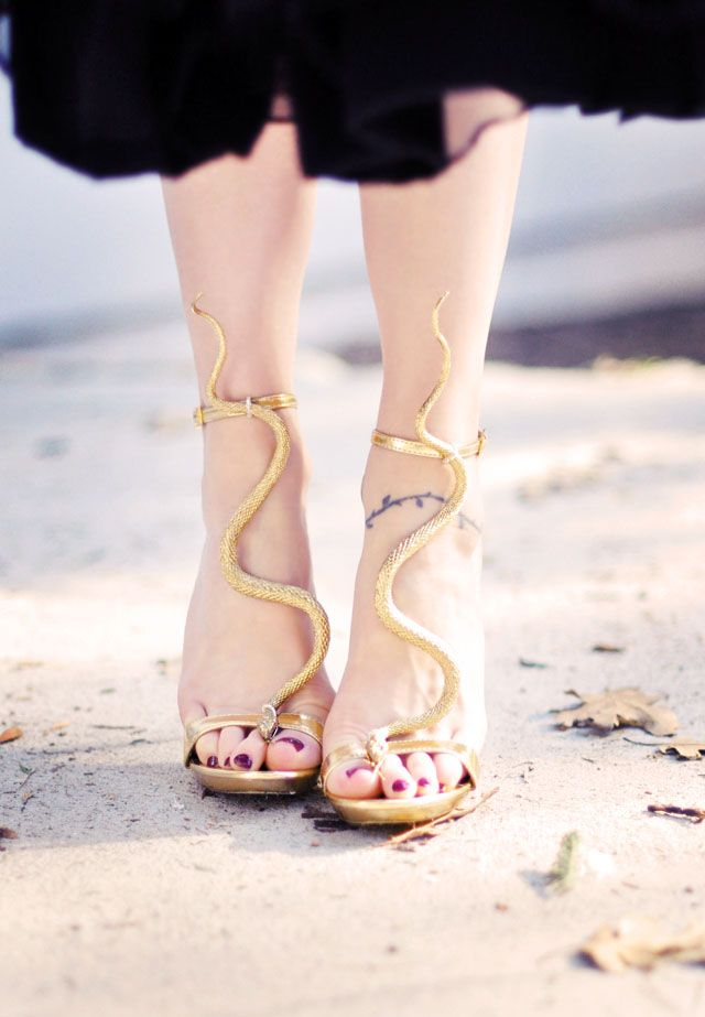 DIY | Gold Snake Serpent Sandals