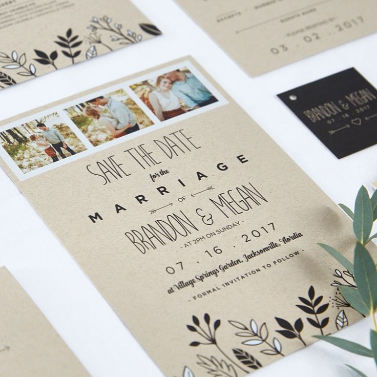 cruise wedding save the date announcement%0A Effervescent vines printed in striking black and white border our Leafy  Framed Save the Date Card  creating a natural  minimal  modern feel