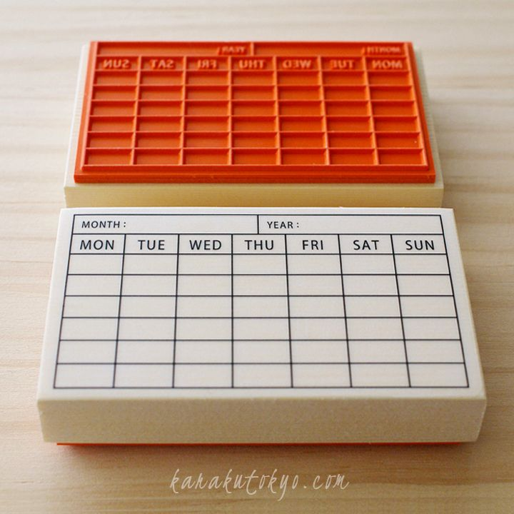 Rubber stamp - stamp of calendar - business card size. This would be great to create little memo cards for the week or for birthday cards …