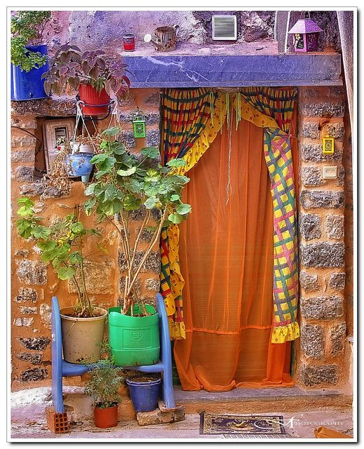 United Colors.  Olympoi village Chios island Greece.