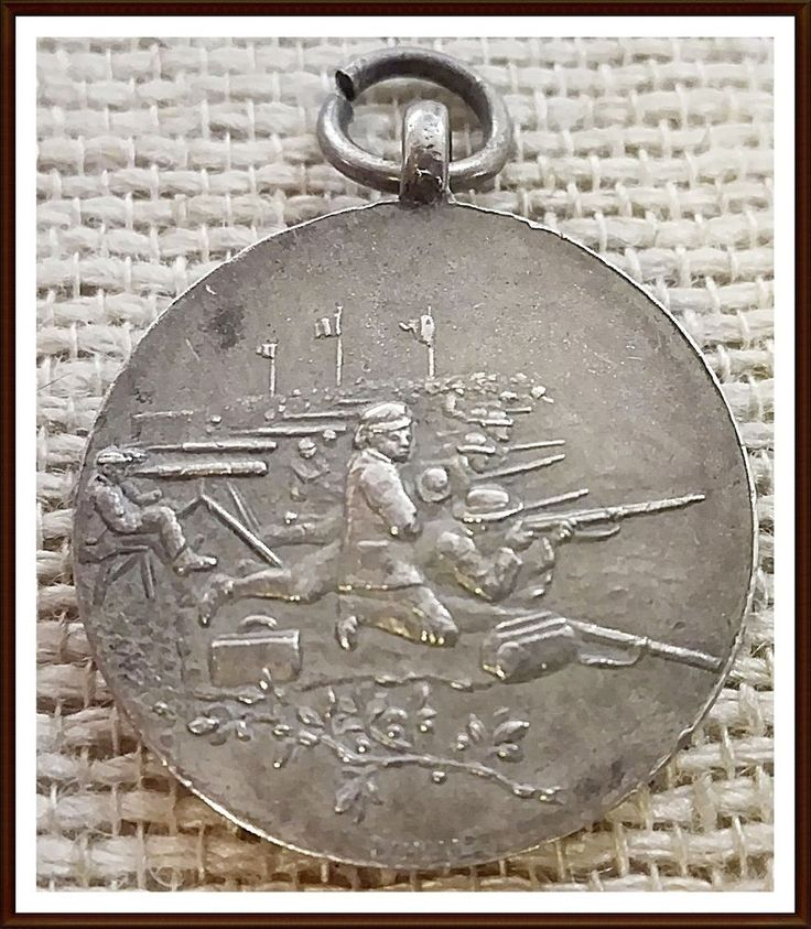 Royal Rifle Corps Silver Marked Shooting Medal to W.R Kiley 1920-1921.