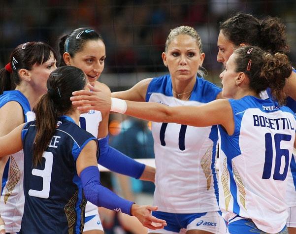 Olimpiadi Londra 2012 volley femminile: Italia 3-0 Gran Bretagna