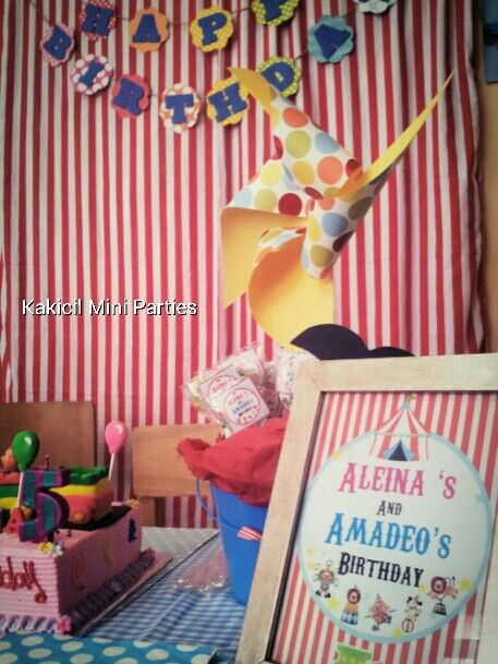 Circus birthday themed