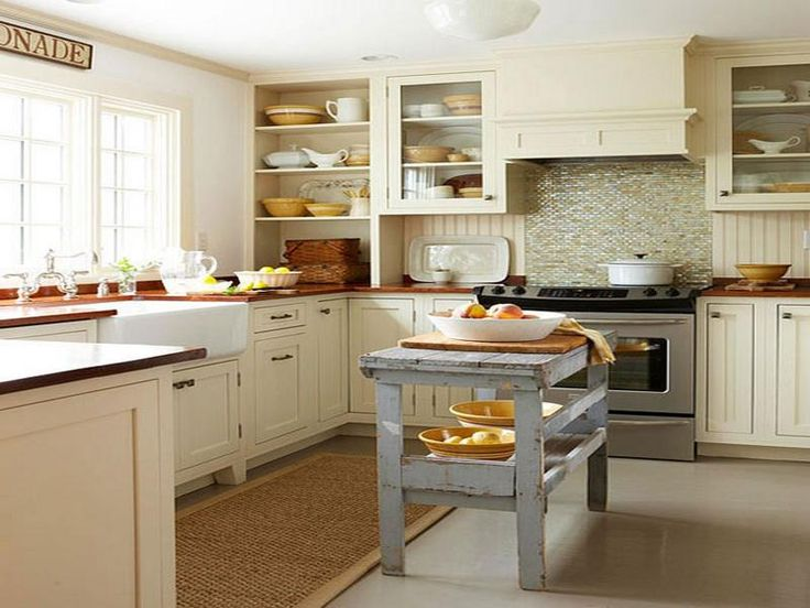 Love This Country Style Large Family Kitchen. Nice Colour Scheme And The  Rustic Wooden Island