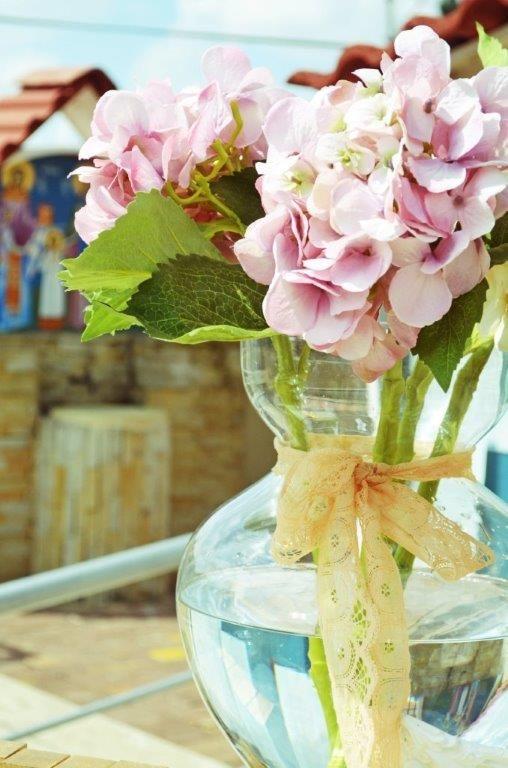 Pink hydrangeias