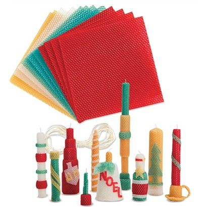 New! Holiday Beeswax Candle Rolling Kit