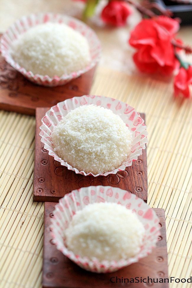 Sticky Rice Balls--Nuomici You can convert this recipe to vegan by using vegan friendly sugar powder and coconut milk