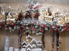 Paesaggi innevati natalizi per vetrine