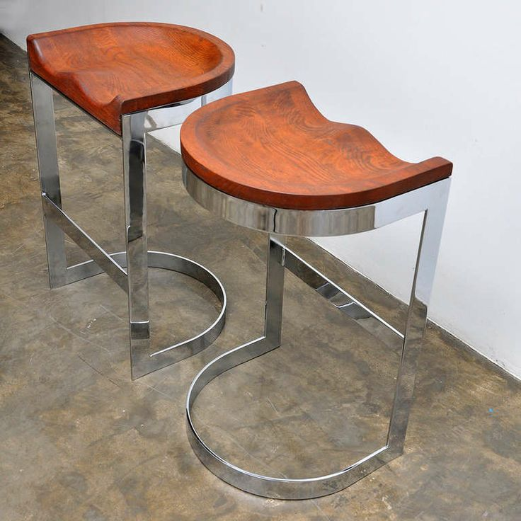 Captivating Set Of 8 Barstools By Californian Craftsman Warren Bacon, Circa 1970 | From  A Unique